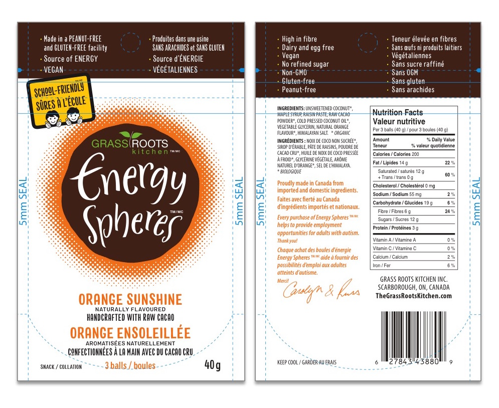Energy Spheres regulatory labelling