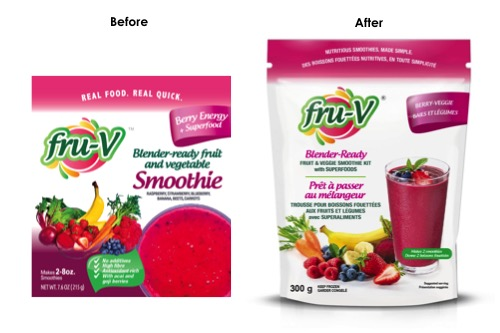 Fru-V before and after